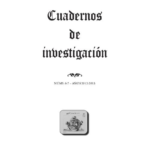 Cuadernos de investigación 6-7