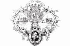 Exlibris of the Jovellanos Forum Foundation of the Principality of Asturias. By Jesús Gallego. Gijón. Asturias. Spain.